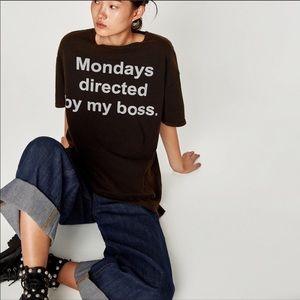 Zara Mondays T Shirt